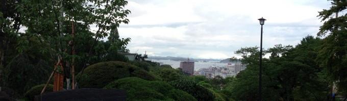 志波彦神社から眺める塩釜湾